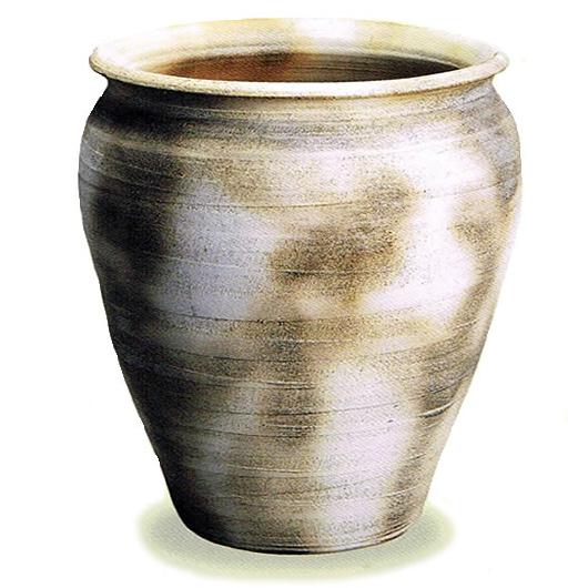 信楽焼き陶器掛け湯つぼ。陶器浴槽と一緒にお使い頂ける大ツボ。ご希望のサイズの壷をオーバーメイド!浴槽用陶器のかけ湯つぼ/信楽焼/やきもの/かめ/瓶/信楽焼風呂/陶器風呂[ky-0013]