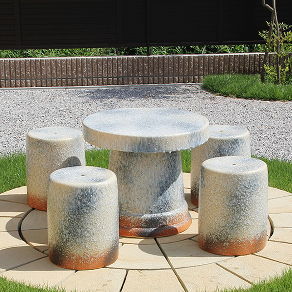 20 Shinshu Raku Garden Table Ceramic Pottery Veranda