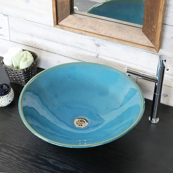 洗面鉢 手洗い鉢 陶器洗面 信楽焼 洗面ボウル 手洗器 洗面ボール 手洗鉢 陶器 洗面鉢 鉢 手洗い器 洗面シンク 洗面器 洗面台 ボール 和風 やきもの しがらき tr-4039