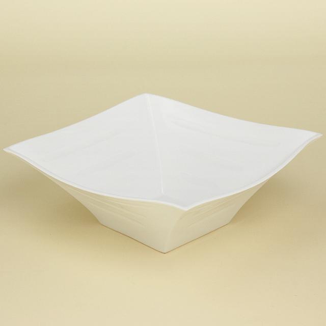 定価 これひとつで存在感大の角鉢 波佐見焼 陶房青 磁器 白磁 白亜 普段使いの食器 上質な器 実物 角鉢