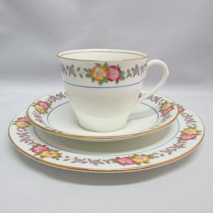 アンティーク トリオ カップ&ソーサー aynsley エインズレイ 1925-1934年頃 ヴィンテージ 食器 陶磁器 キッチン雑貨 テーブルウェア ティ―セット 茶器