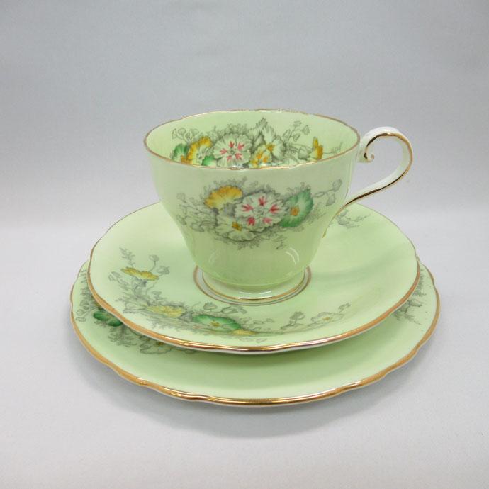 アンティーク トリオ カップ&ソーサー aynsley エインズレイ 1934-50年頃 ヴィンテージ 食器 陶磁器 キッチン雑貨 テーブルウェア ティ―セット 茶器