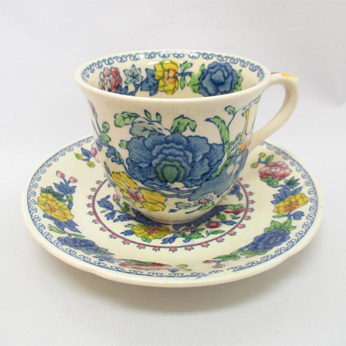 アンティーク トリオ カップ&ソーサー Mason's メイソンズ Regency 1937年頃 ヴィンテージ 食器 陶磁器 キッチン雑貨 テーブルウェア ティ―セット 茶器