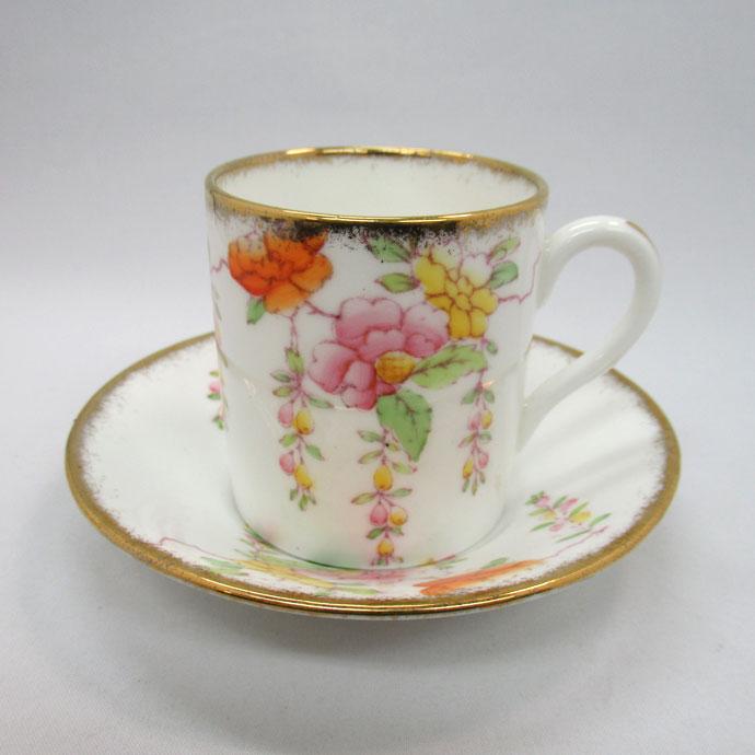 アンティーク デミタスカップ&ソーサー Royal Albert ロイヤルアルバート 1927-1934年頃 ヴィンテージ 食器 陶磁器 キッチン雑貨 テーブルウェア ティ―セット 茶器