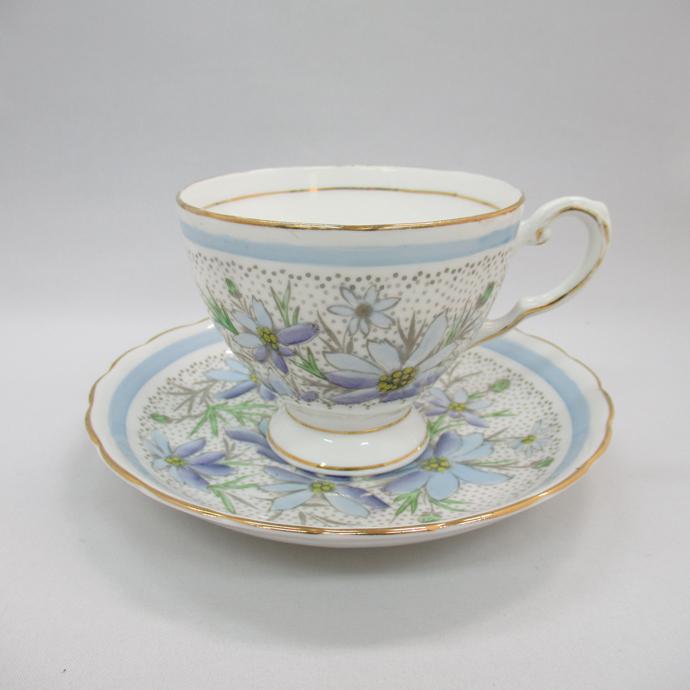 アンティーク ティーカップ&ソーサー タスカン Tuscan 1947年頃 ヴィンテージ 食器 陶磁器 キッチン雑貨 テーブルウェア ティ―セット 茶器