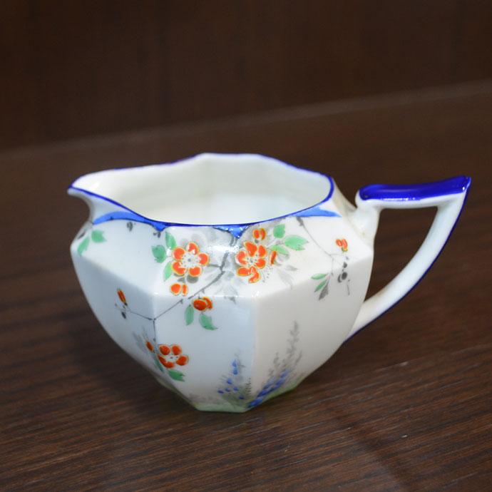 ヴィンテージ 食器 陶磁器 キッチン雑貨 テーブルウェア ミルクポット クリーマー アンティーク 八角 ミルクジャグ shelley シェリー アールデコ イギリス 1926-1929年頃