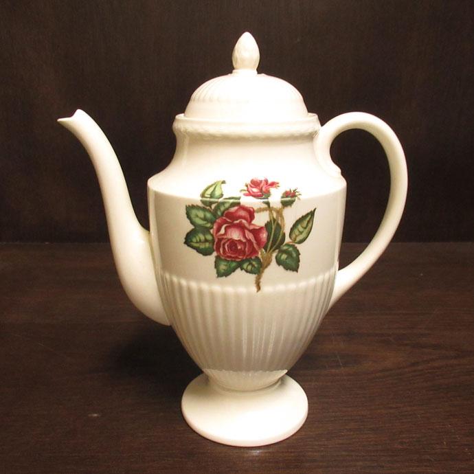 ヴィンテージ ティーポット Wedgwood ウェッジウッド Moss Rose 1973-80年頃 アンティーク 食器 陶磁器 キッチン雑貨 テーブルウェア ティ―セット 茶器 コーヒーポット