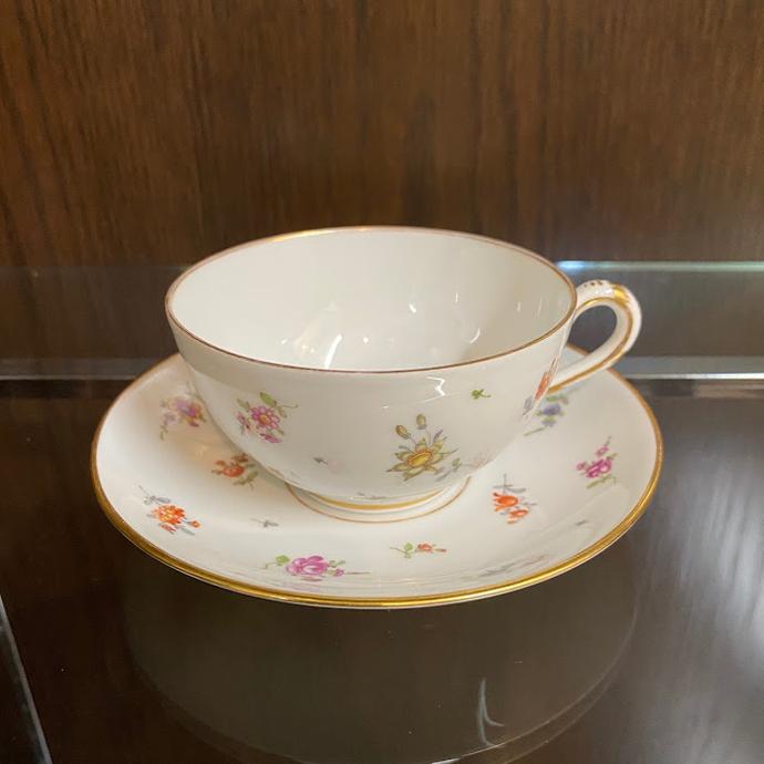 アンティーク カップ&ソーサー Ambrosius Lamm アンブロジウスラム ドイツ ドレスデン 1887-1915年 ヴィンテージ 食器 陶磁器 キッチン雑貨 テーブルウェア ティ―セット 茶器