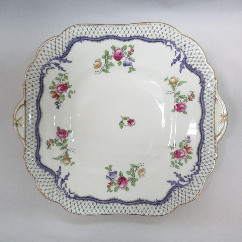 アンティーク食器 エインズレイ 大皿・プレート 1930年以前 一部ハンドペイント(手描き) RgNoあり