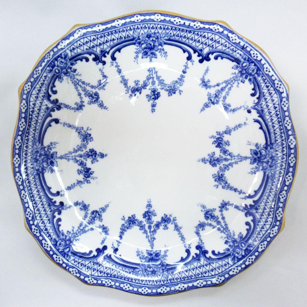 アンティーク食器 ロイヤルクラウンダービー 大皿 一部ハンドペイント(手描き) 1900年マーク