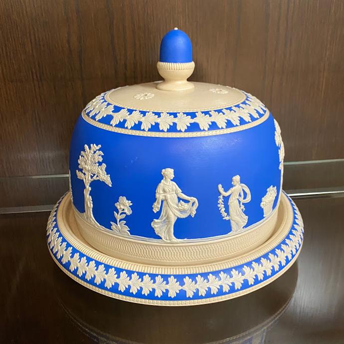アンティーク ドーム Copeland Spode コープランドスポード ジャスパーウェア 1894-1910年頃 ヴィンテージ イギリス 陶磁器 キッチン雑貨 テーブルウェア ケーキスタンド