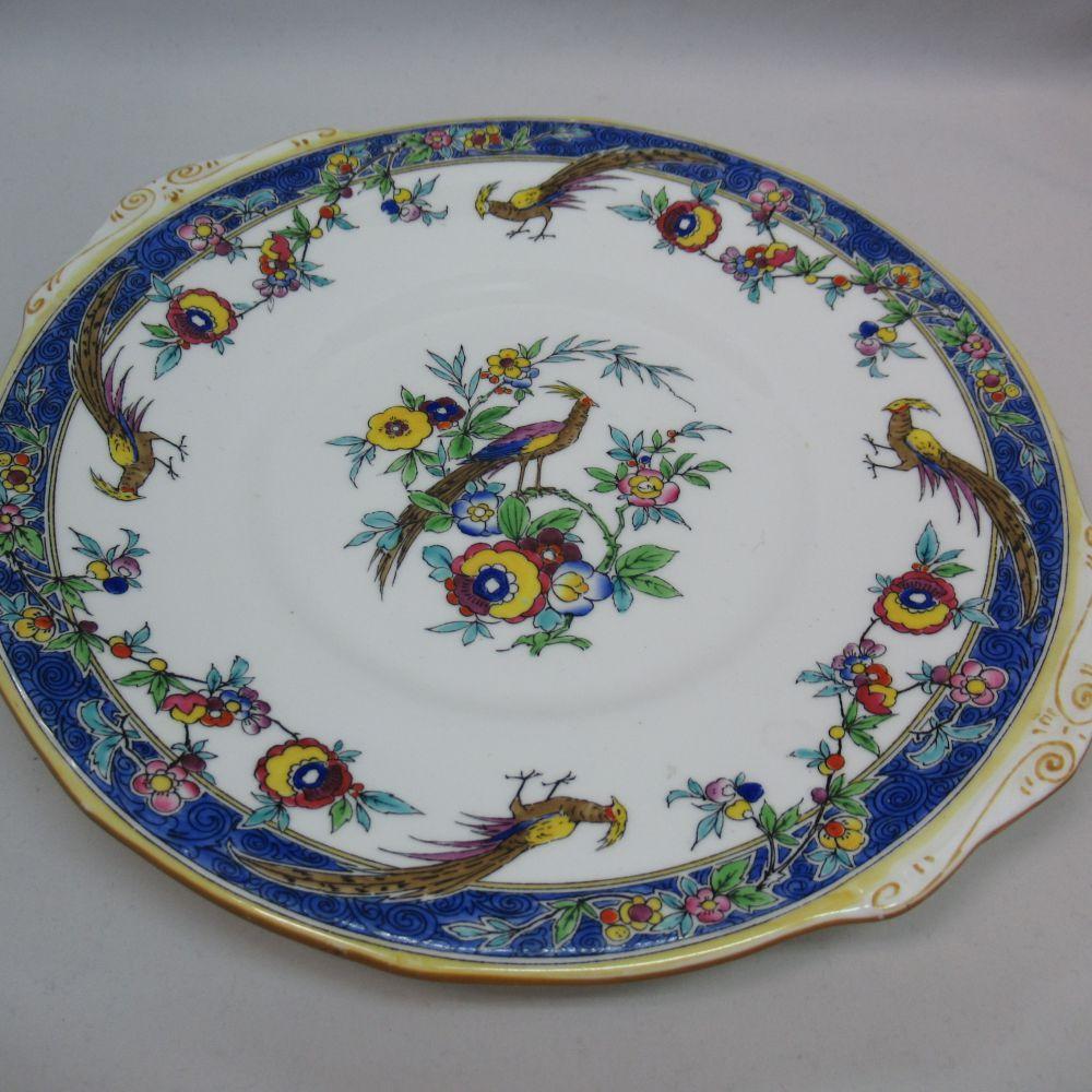 アンティーク食器 ミントン 大皿・プレート 1923年 一部ハンドペイント(手描き)