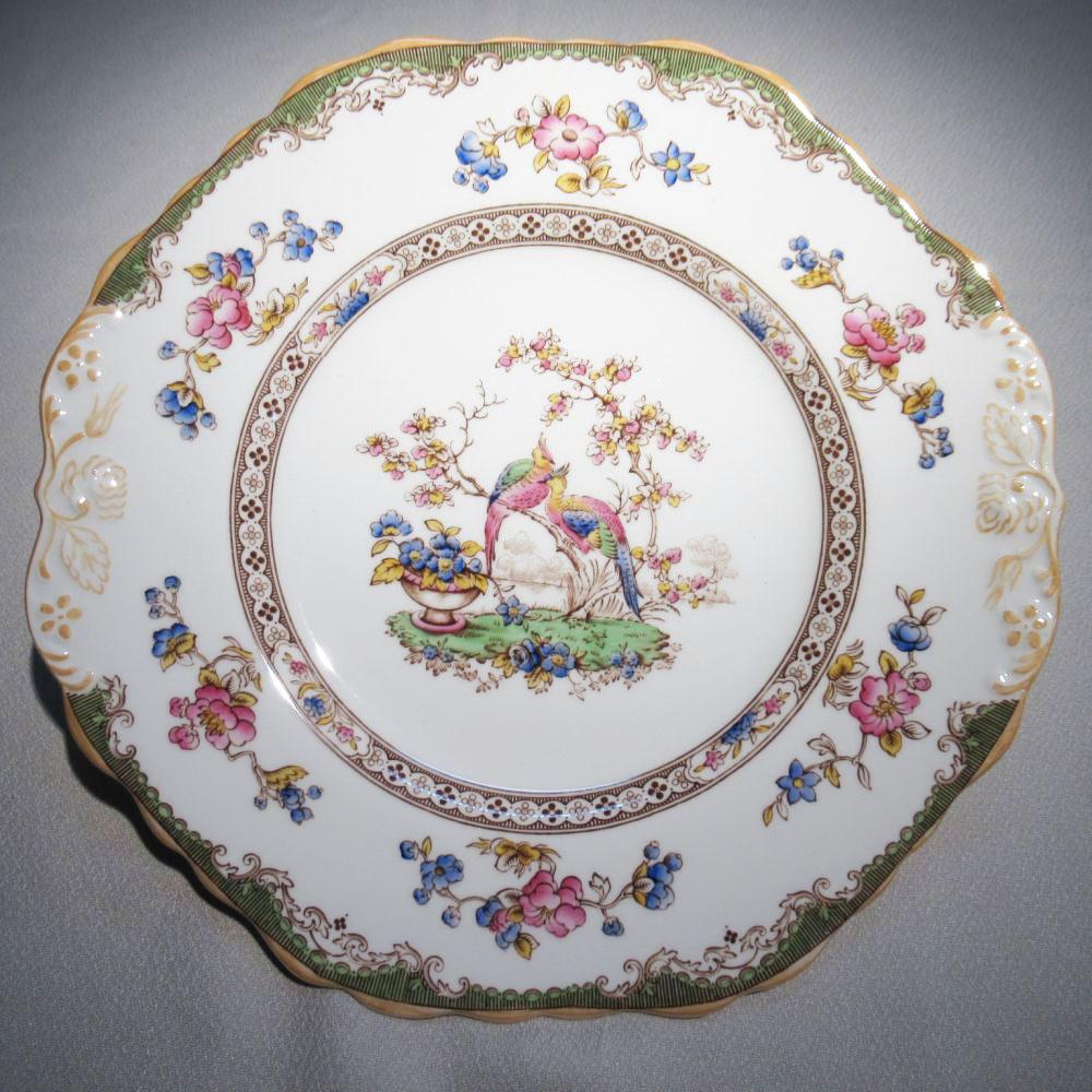 アンティーク食器 コープランド・スポード 大皿・大プレート エデン 1950年代頃一部ハンドペイント(手描き)古くからのデザイン