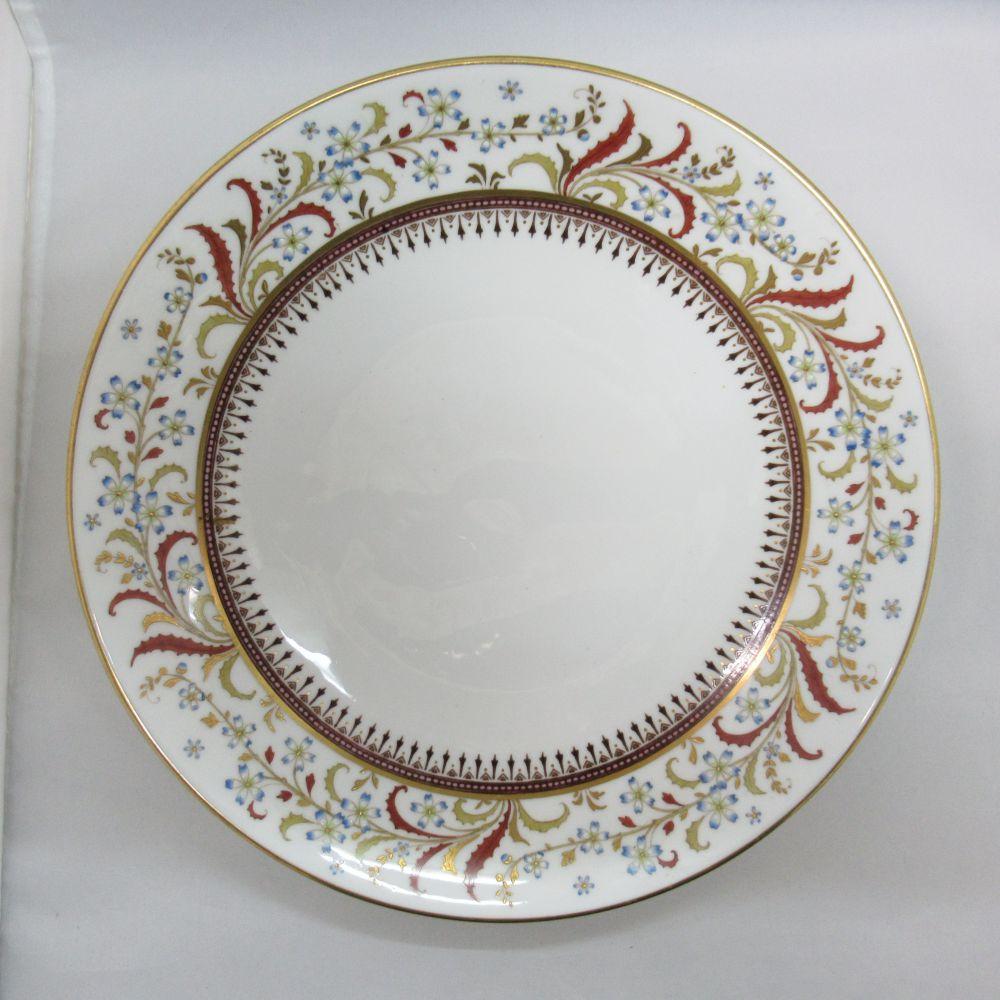 アンティーク食器 ミントン 大皿・プレート オールドミントン 1800年代中期 ほぼ全てハンドペイント(手描き) 厚めのエナメル装飾 美品