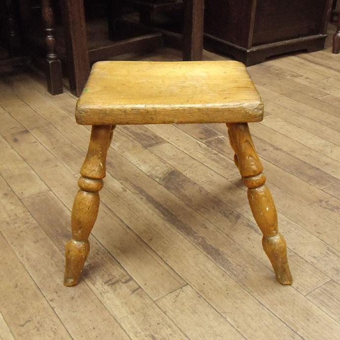 ヴィンテージ 家具 椅子 インテリア雑貨 木製 チェア アンティーク パイン&エルム 長方形スツール