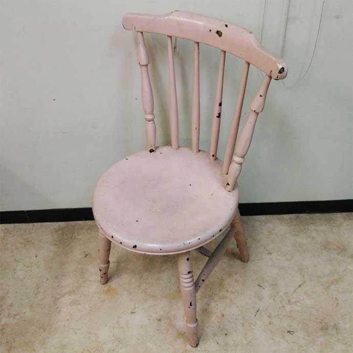 アンティーク チェア カントリー調 薄ピンク 1900年頃