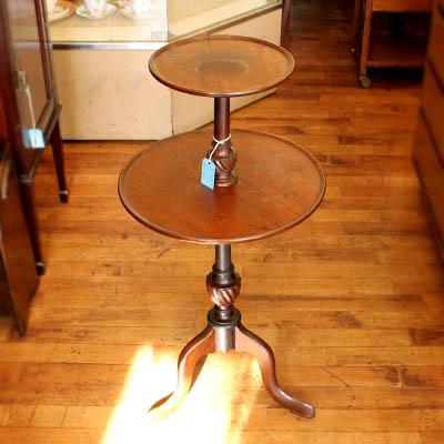 アンティーク雑貨小家具 木製プラントスタンド