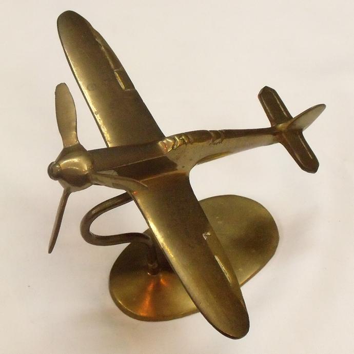 ◆アンティーク雑貨 ブラスインテリア 飛行機(大) / オーナメント