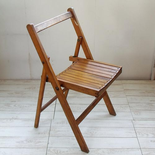 Antique Wooden Folding Chair 4