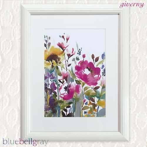 英国bluebellgray『ブルーベルグレイ』額入りアートプリント《Giverny(ジヴェルニー)》