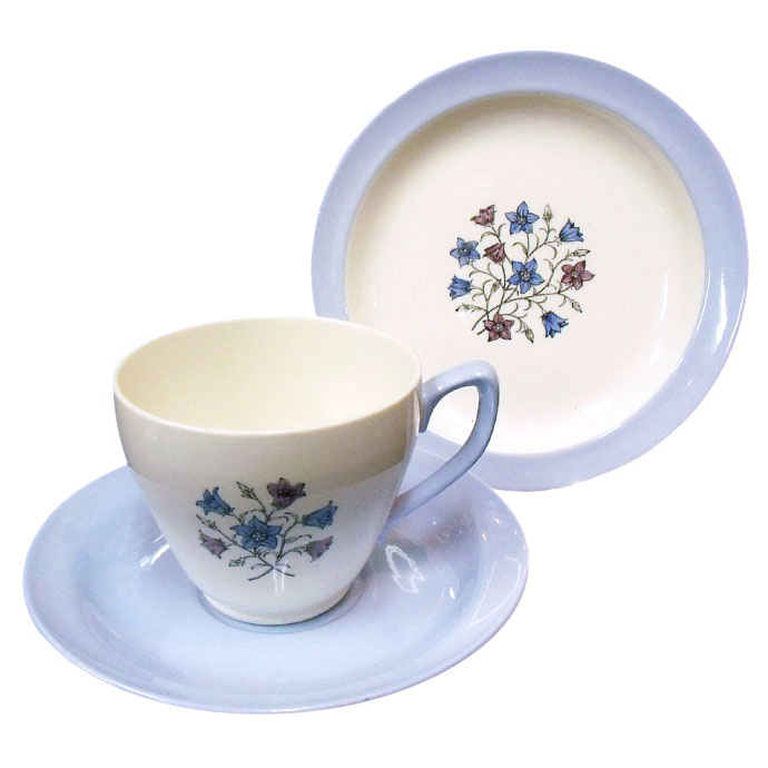 ◆アンティーク食器・陶磁器 コープランド・スポード(Copeland Spode) ハミルトン ティーカップ・トリオ/1950-1960年頃