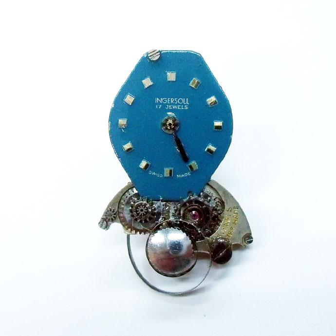 ◆英国製クラフト◆時計のかけら ピンブローチスプリング【005】