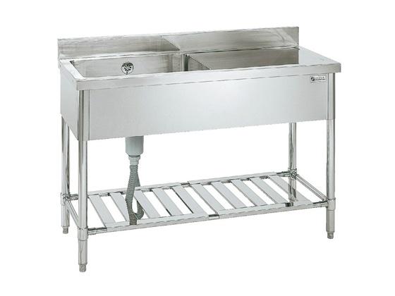 [陶芸 機器] ステンレスシンク 1槽水切付W1000×D450