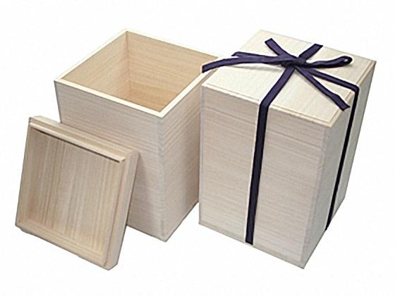 [陶芸] 桐箱 紐付蓋印籠 8.5寸壺