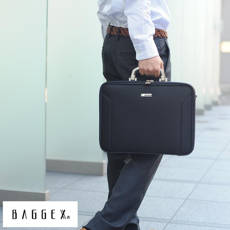 【 ポイント2倍 】 BAGGEX ソフトアタッシェケース A4対応 ORIGIN ブラック 24-0281 /男性用/メンズ/アタッシュケース/2way/A4/iPad/ナイロン/鞄/かばん/バッグ/日本製/軽量/ビジネス/ 【送料無料】