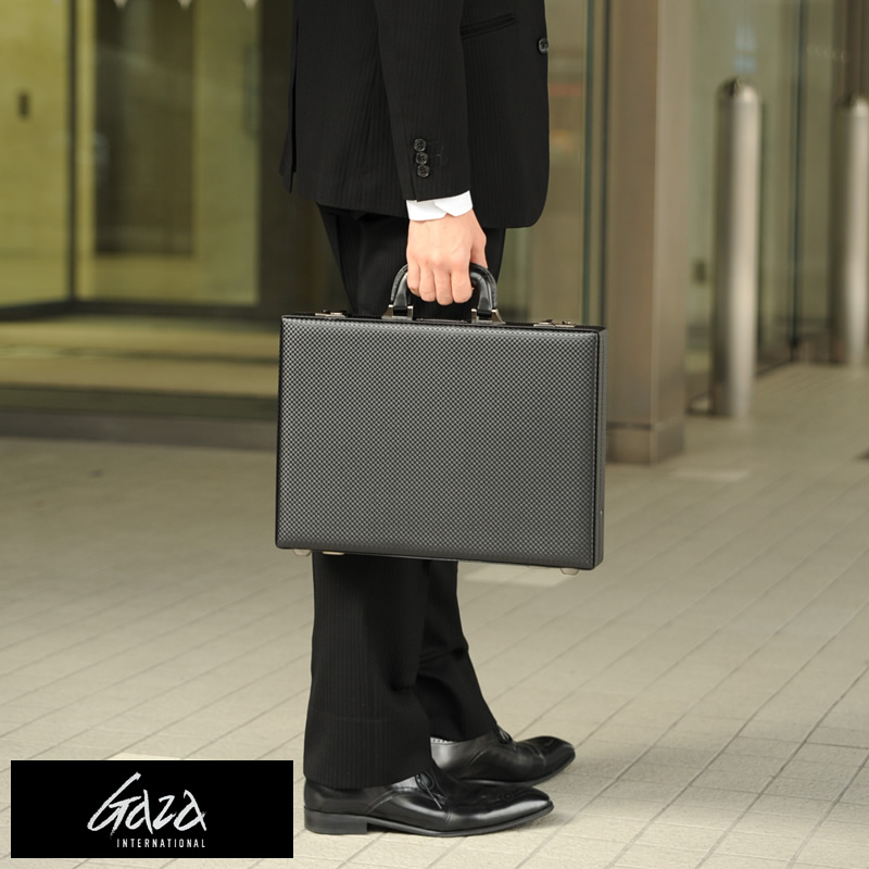 Gaza Made In An Leather Like Attache Case For Men With Key Lock Black No 6251