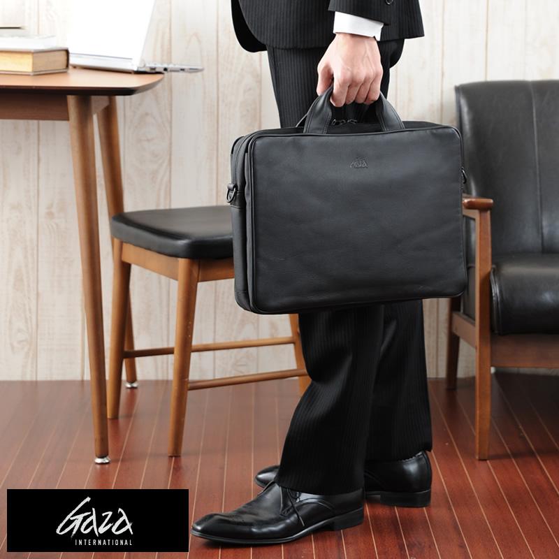 【 ポイント2倍 】 青木鞄 GAZA ブリーフケース LOAM ブラック No.6122-10 男性用 メンズ ビジネスバッグ 2way A4 iPad 本革 牛革 レザー 鞄 かばん 日本製 青木鞄 軽量 【あす楽対応】 【送料無料】