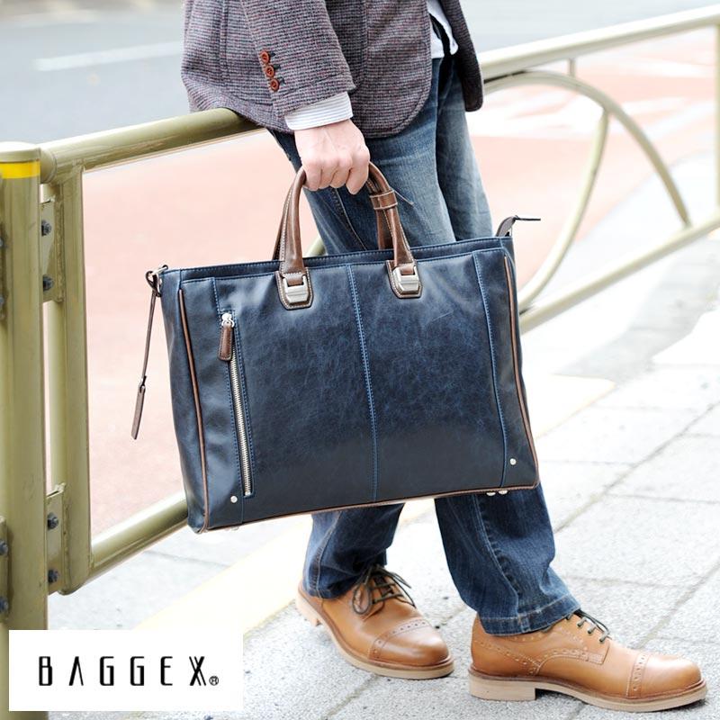 BAGGEX ブリーフケース TREASURE /男性用/メンズ/ビジネスバッグ/カジュアル/B4/合皮/ショルダー付き/パソコン/鞄/かばん/バッグ/ 【送料無料】