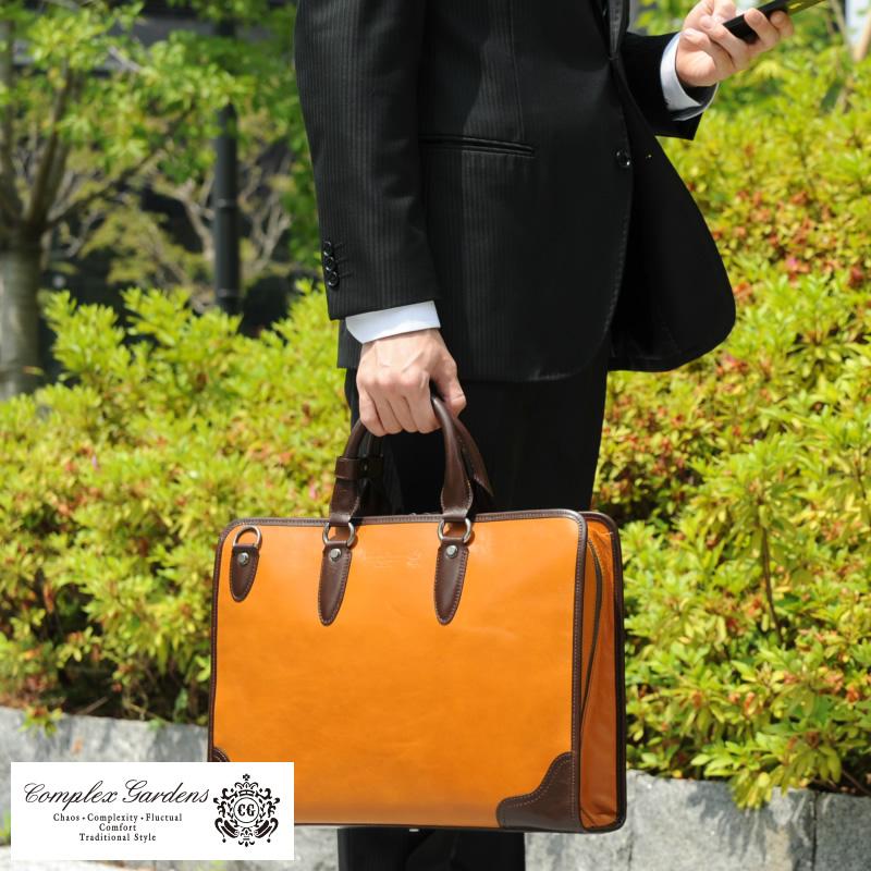 複雜園林業務包質冠掃描 / 男人的業務包 / 2way/B4 / 皮革牛皮皮革和包袋製成在日本的青木袋 / / 公事包 /