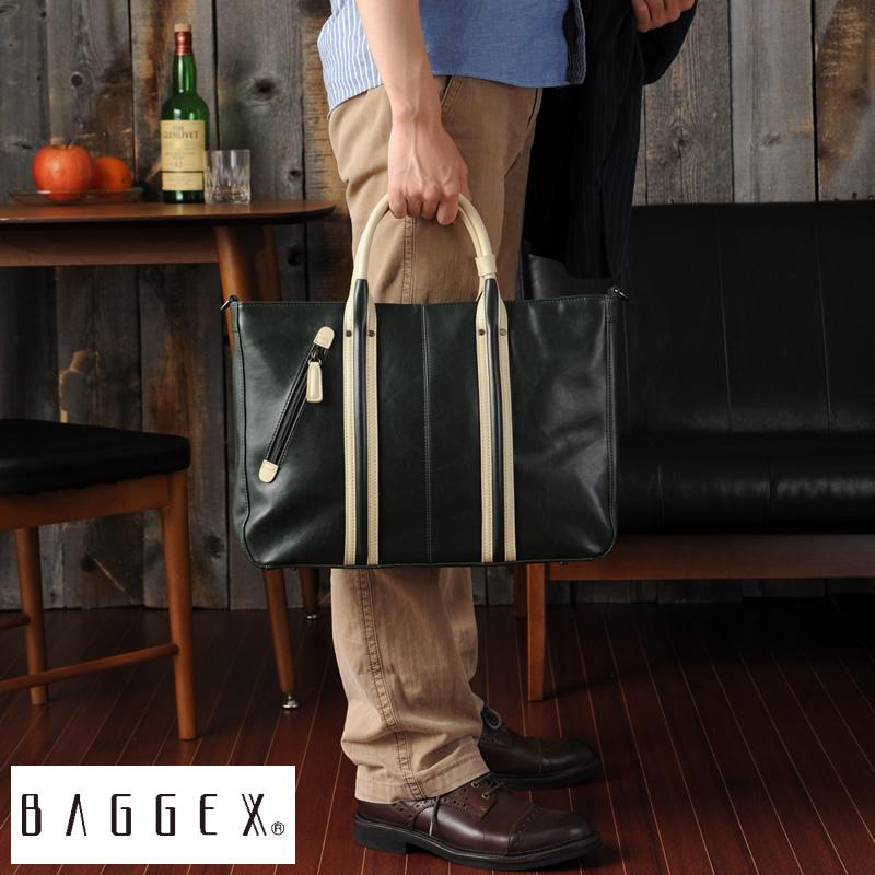 BAGGEX ビジネストートバッグ VINTAGE /男性用/メンズ/ビジネスバッグ/ブリーフケース/ビジネスバック/B4/2way/合皮/鞄/かばん/軽量/ 【送料無料】