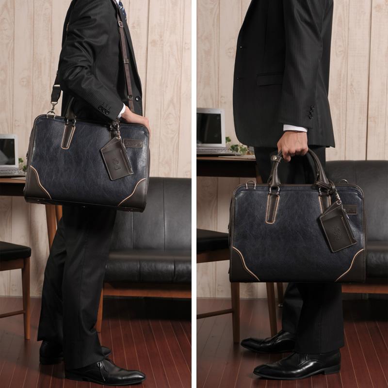 【 ポイント2倍 】 Pid メンズ ビジネスバッグ 2層ブリーフケース ONESTO  通勤 ショルダー 肩掛け 2way B4 おしゃれ パスケース付き 合皮 鞄 カバン ビジネストートバッグ 大人 男性 カジュアル