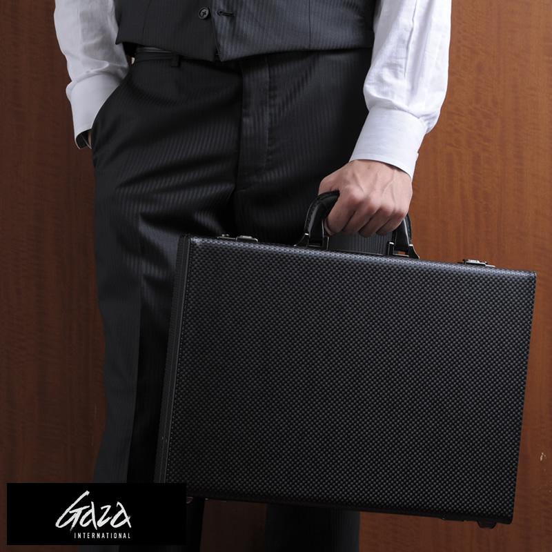 【 ポイント2倍 】 青木鞄 GAZA B4アタッシュケース ブラック No.6252-10 男性用 メンズ アタッシュケース B4 ビジネスバッグ 合成皮革 鞄 かばん 日本製 青木鞄 ブリーフケース おしゃれ 【あす楽対応】 【送料無料】