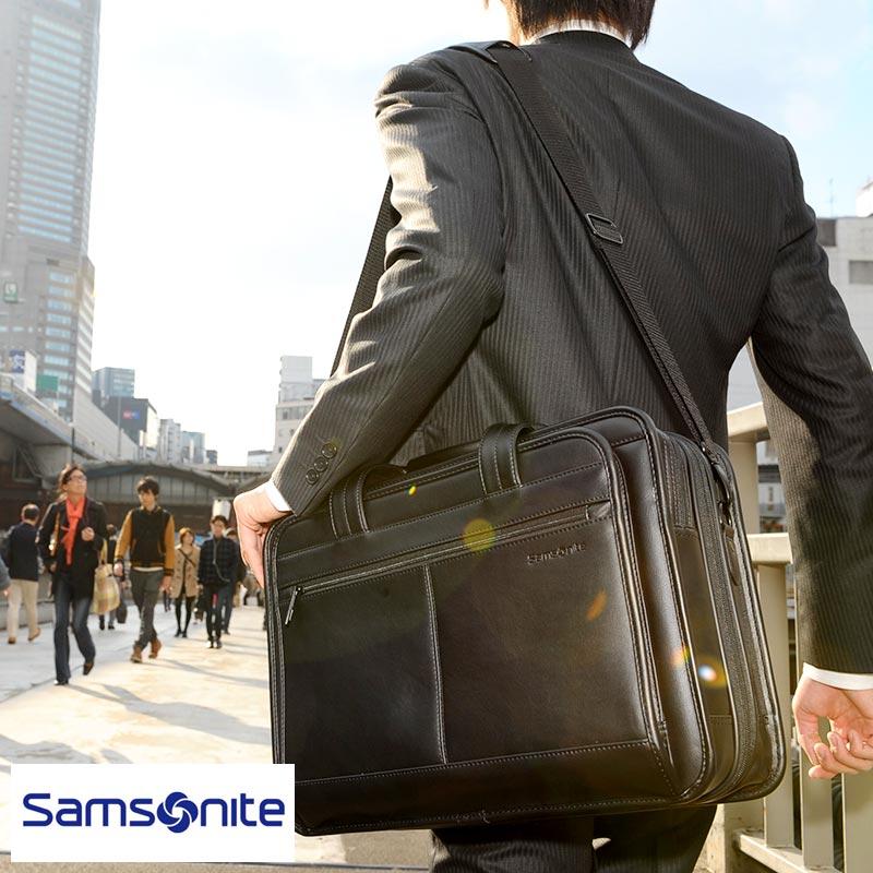 Samsonite サムソナイト LEATHER BUSINESS CASES エクスパンダブルビジネスバッグ 43118-1041 /男性用/メンズ/ブリーフケース/革/本革/レザー/B4/2way/大容量/パソコン/バッグ/鞄/かばん/ 【あす楽対応】