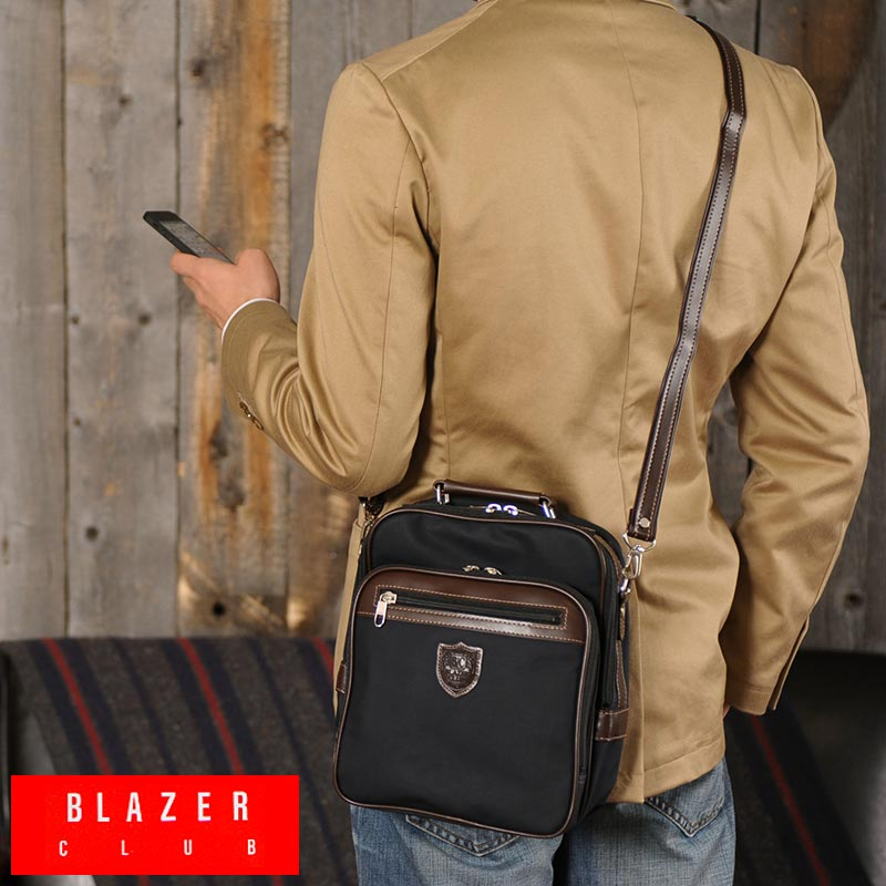 BLAZERCLUB vertical shoulder bag canvas coats for men men s   shoulder bag    mini  A5 iPad mini   canvas bag bag made in Japan     small   lightweight    0eaa1eb593a67