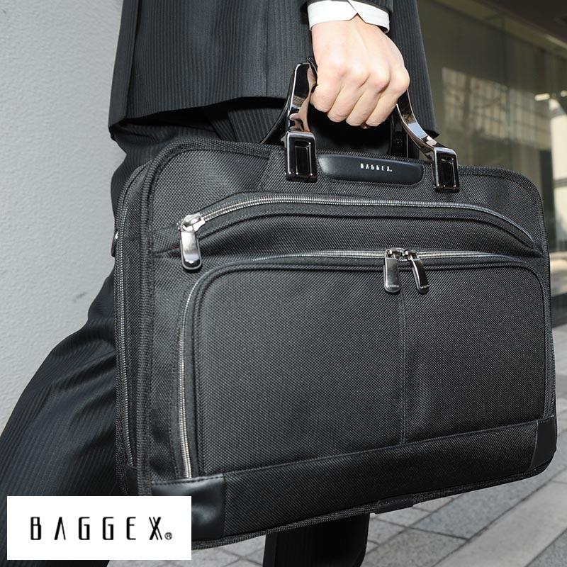 【 ポイント2倍 】 BAGGEX ブリーフケースS GRAND メンズ ビジネスバッグ 肩掛け B4 自立 底鋲 ショルダー 大容量 通勤 PC 書類 男性 ナイロン カバン 大人 男性 【送料無料】