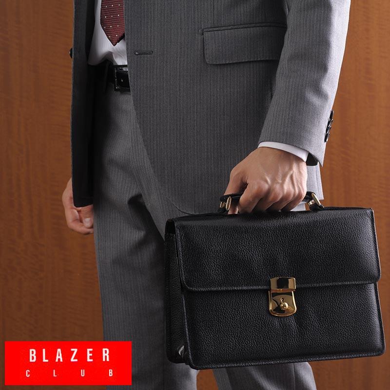 日本製ならではのシンプル プレゼント 高品質 B5サイズのコンパクトバッグ 整頓ができる2層構造 鍵付き ブラック 黒 25824 ポイント10倍 BLAZER CLUB 牛革型押しカブセクラッチポーチ 男性用 かばん 日本製 レザー セカンドバッグ 革 メンズ 持ち手 バッグ ブリーフケース 送料無料 本革 モデル着用&注目アイテム B5 鞄
