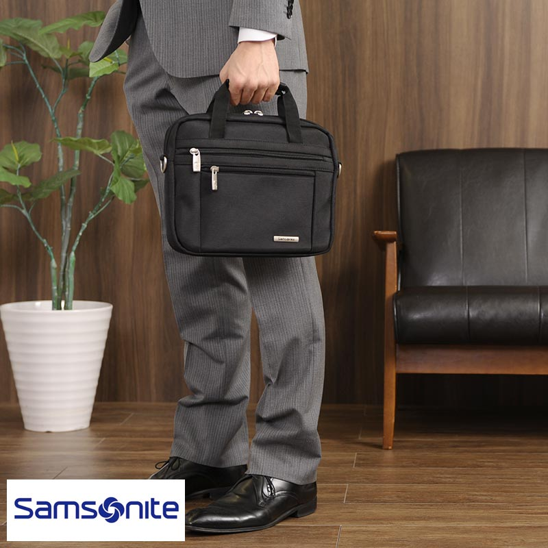 Samsonite 2 Way Compact B Leaf Case Classic Business 43272 1041 Men S Nylon B5 Computer Bags Thin Gusset Lightweight