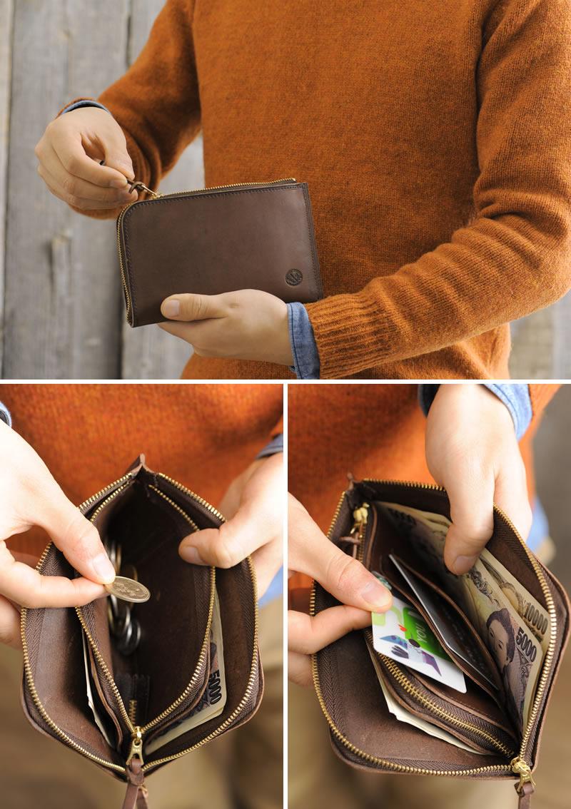 有供TEMPESTI L字拉链长钱包Basic Collection/男性使用的人/长钱包/硬币袋,/皮革书皮革皮革/日本制造/样子好的/erubamatto/担佩住宿/礼物/