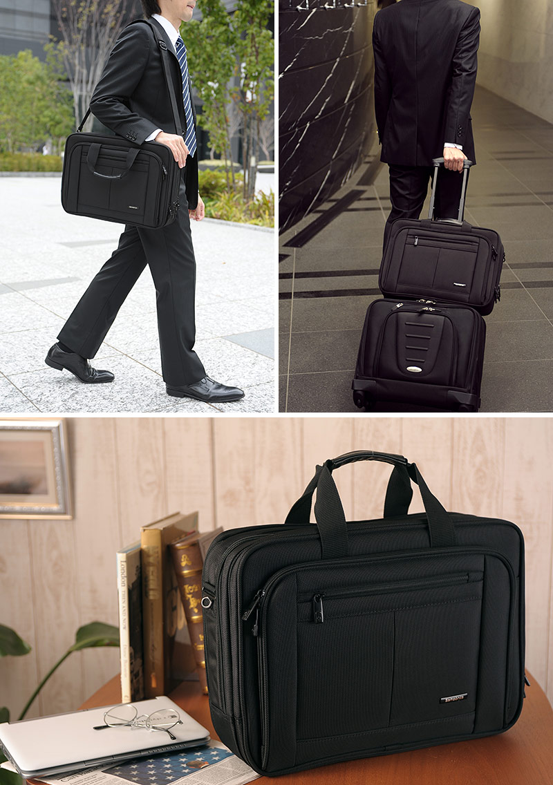 Samsonite Samsonite CLASSIC BUSINESS three-tier Briefcase 43270-1041   men s    business bags for men   nylon  B4 2 way   mass   commuting   PCs   bag bag    7867baa097b66