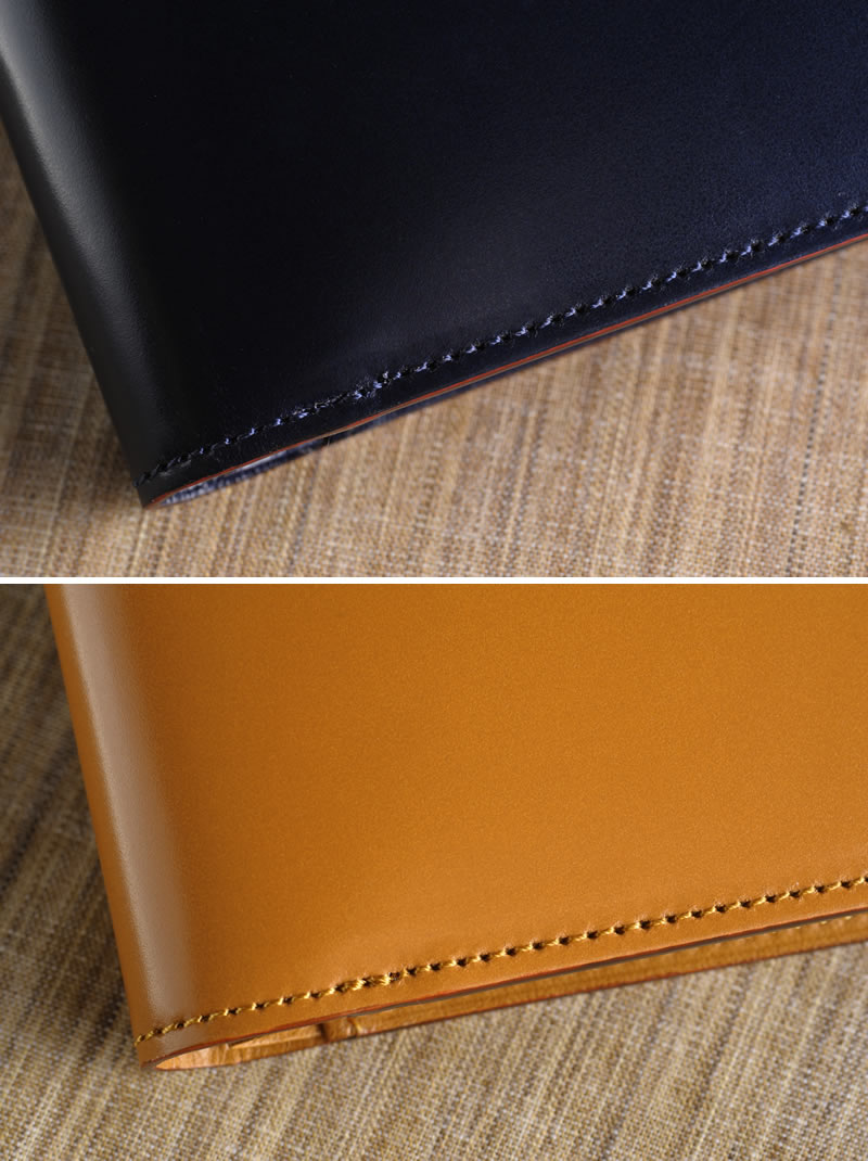 【 ポイント2倍 】 コードバン 二つ折り財布 日本製 BRIT HOUSE 草木染めコードバン 純札 KUSAKI  男性用 メンズ 財布 二つ折り 小銭入れなし 革 本革 レザー 日本製 二つ折り財布 和風 プレゼント