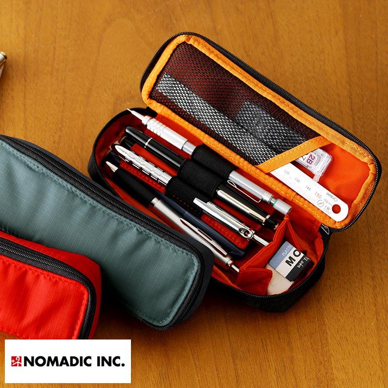 A lot of NOMADIC メンズノーマディック 2 stories pen case Shin pull large-capacity pen  case fashion adult pencil case pen cases university student high school