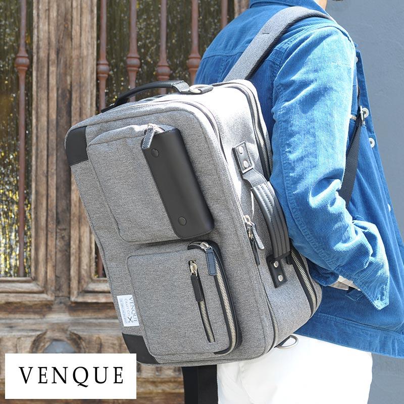 VENQUE 3wayバッグ BRIEFPACK XL Black Edition /男性用/メンズ/ビジネスバッグ/3way/リュック/B4/大容量/オーバーナイター/出張/鞄/かばん/バッグ/