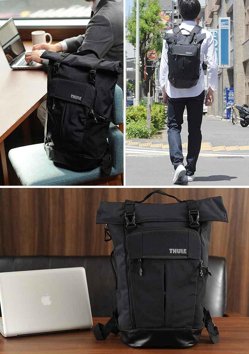 20d1869c971493 Men's Black Rip Stop Roll-top Nylon Backpack - Lyst