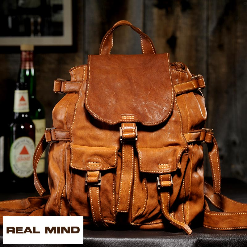 075a176f8cc5  B5  day pack   leather rucksack   vintage   bag bag bag   made in men s    backpack   soft leather genuine leather leather   Japan for the REAL MIND  ...