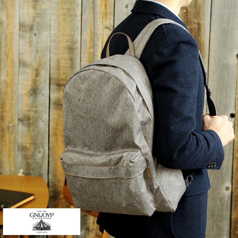【 ポイント2倍 】 GNUOYP ニュピ 軽量デイパック /男性用/メンズ/リュックサック/バックパック/日本製/A4/コットン/布/鞄/かばん/バッグ/