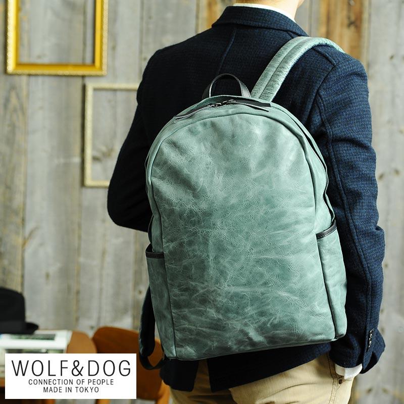 【 ポイント2倍 】 WOLF&DOG 馬革ビジネスリュック ホワイトホース メンズ リュック 革 本革 レザー 日本製 デイパック B4 【送料無料】